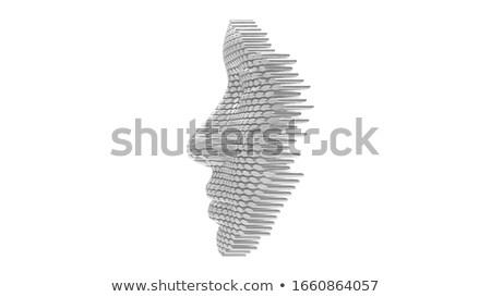3dのレンダリング 人間 頭蓋骨 目 モデル 背景 ストックフォト © maya2008