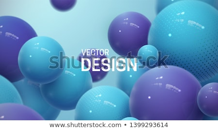 Blue ball 3D illustration stock photo © 7Crafts