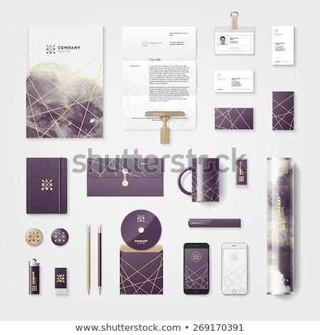 抽象的な 黒 インク レターヘッド デザインテンプレート ベクトル ストックフォト © SArts