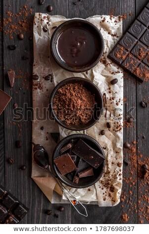 chocolate and cocoa powder Stock photo © artjazz