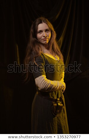 fiatal · európai · vonzó · modell · hosszú · szőke - stock fotó © konradbak