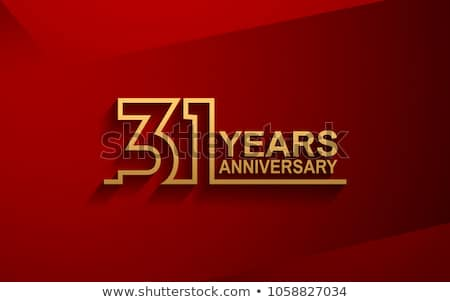 31st anniversary celebration badge label in golden color Stock photo © SArts