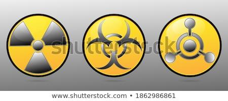 Radiazione rischio illustrazione segno fabbrica cranio Foto d'archivio © adrenalina