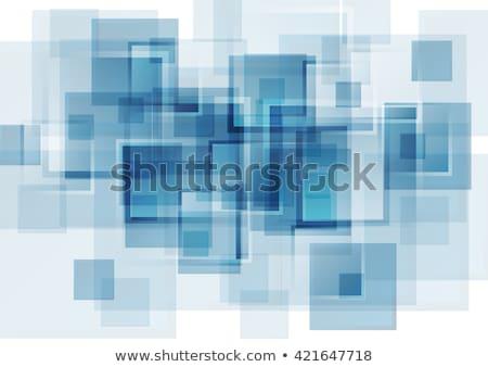 Kék fényes négyzetek technikai vektor formák Stock fotó © fresh_5265954