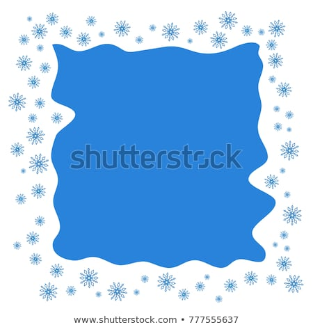 Scattered snowflakes under the retro frame Stock photo © SwillSkill