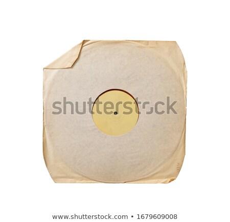 bakelit · lemez · piros · fehér · retró · stílus · vektor - stock fotó © elaine
