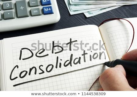 Crédito empréstimo dívida alívio ilustração 3d princípio Foto stock © olivier_le_moal