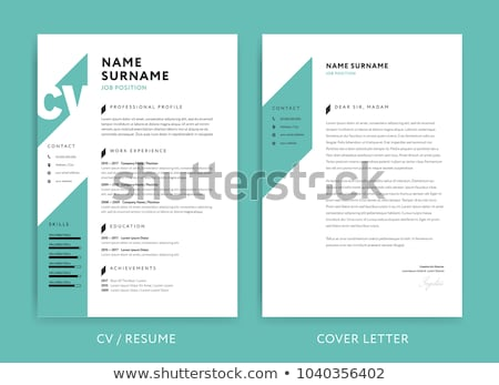 Personal Resume - vector template illustration Stock photo © Decorwithme