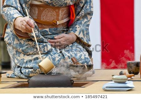 Tradicional japonés té ceremonia ilustración flores Foto stock © adrenalina