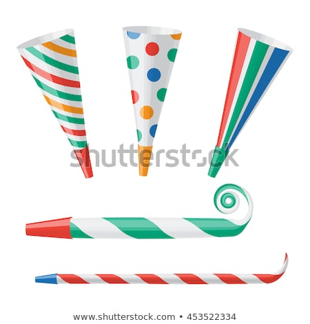 party horn isolated holiday accessory on white background stock photo © maryvalery