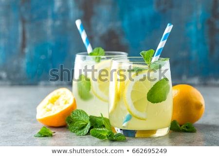 Lemon and Mint Beverage Stock photo © zhekos