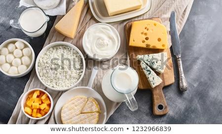 Peynir süt lezzetli cam can Stok fotoğraf © klsbear