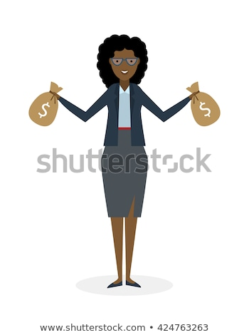 young african businessman holding a money bag stock photo © rastudio