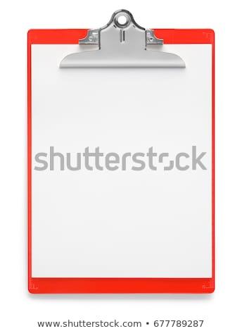 red clipboard stock photo © devon