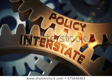 Policy Interstate on Golden Gears. 3D. Stock photo © tashatuvango
