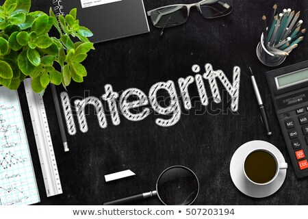 Integrity on Black Chalkboard. 3D Rendering. Stock photo © tashatuvango