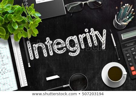 Integrity on Black Chalkboard. 3D Rendering. Stock photo © tashatuvango