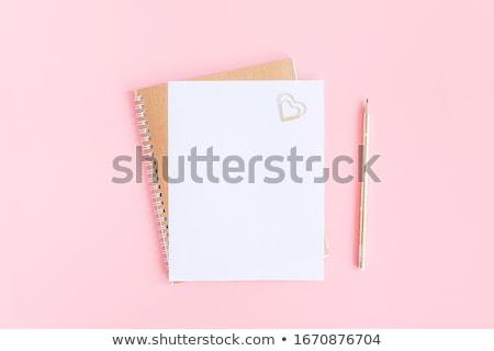 Roze schrijfpapier witte Stockfoto © devon