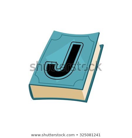 Letter J on cover of retro books. Concept of template elements a Stock photo © popaukropa