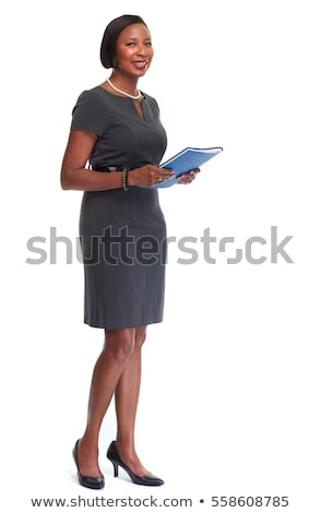 Portrait of the business woman with a represent folder Stock photo © Massonforstock