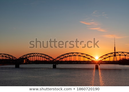 Riga radio tv toren spoorweg brug Stockfoto © benkrut