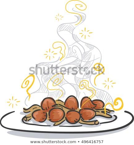 Psychedelic grzyby tablicy gotowany ilustracja Zdjęcia stock © lenm