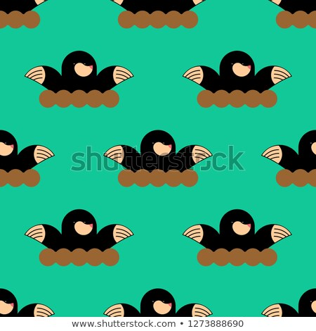 mole pattern. shrew background. Pest Farm ornament Stock photo © popaukropa