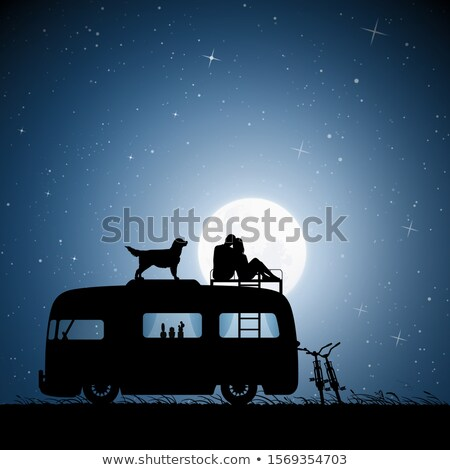Couple sitting at campsite Stock photo © IS2