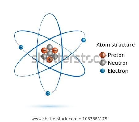 Proton typografie illustratie woord deeltje Stockfoto © lenm