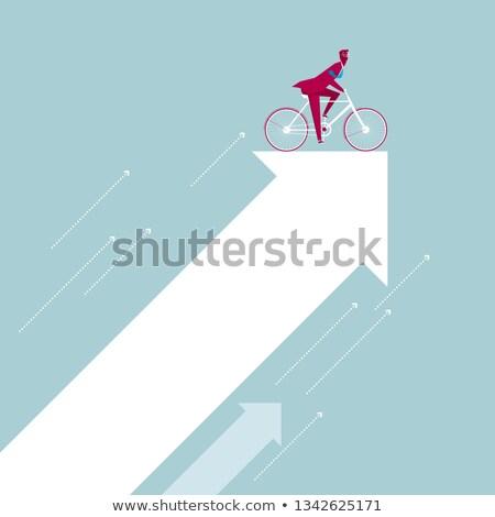 Cartoon character - riding arrow Stock photo © milsiart