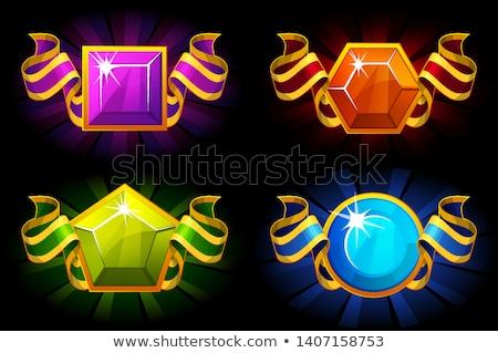értékes kövek gyűjtemény poszter képek kristályos Stock fotó © robuart