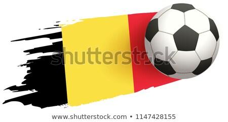 Soccer ball fly background of Belgian flag Stock photo © orensila