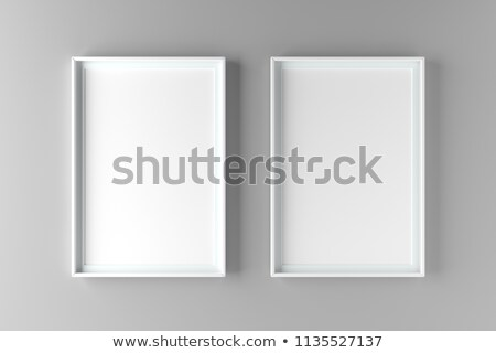 Two fundamental and elegant mock up poster on wall Stock photo © adamr
