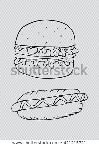гриль · колбаса · продовольствие · мяса · приготовления · обед - Сток-фото © articular