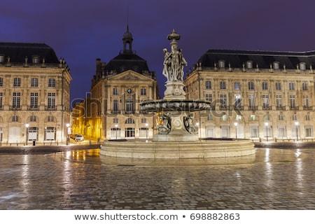 Fontaine des Trois Graces on Place de la Bourse in Bordeaux Stock photo © benkrut