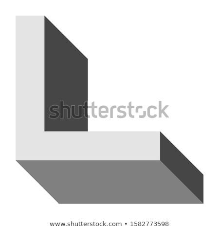 Grijs letter l rechthoekig vector illustratie Stockfoto © cidepix