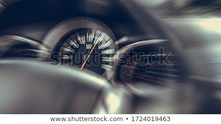 Snelheidsmeter snel Blauw naald Stockfoto © albund