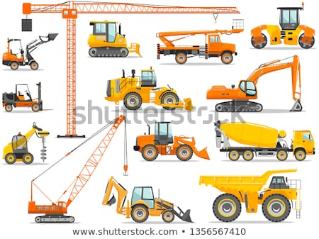 Special vehicles - flat design style icons set Stock photo © Decorwithme