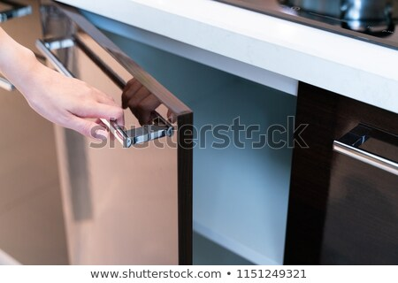 Cabinet with Door Cupboard with Drawers or Shelves Stock photo © robuart