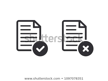 Сток-фото: Rejected Document Icon Cross On Paper Vector Illustration Isolated On White Background