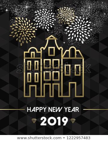 New Year 2019 amsterdam netherlands travel gold Stock photo © cienpies