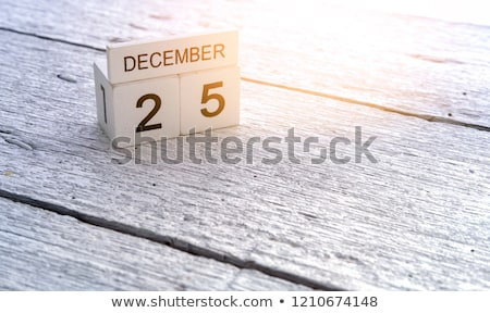 A calendar showing the 25th of December Stock photo © colematt