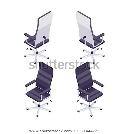 Office Chair Seat with Handles Vector Illustration Stock photo © robuart