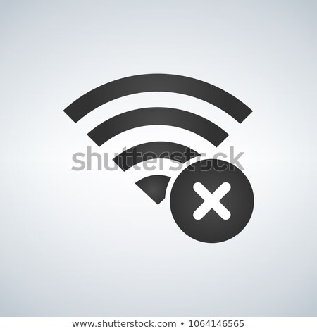 Wifi connection signal icon with cross or delete mark in the circle. vector illustration isolated on Stock photo © kyryloff