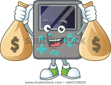 Battery Cartoon Mascot Character Holding A Dollar Bill Stock photo © hittoon