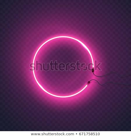 Girl Power Line Icon Circle Concept Stock photo © Anna_leni