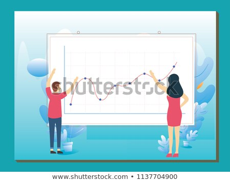 Businessman in business visualization and infographics concept Stock photo © Elnur