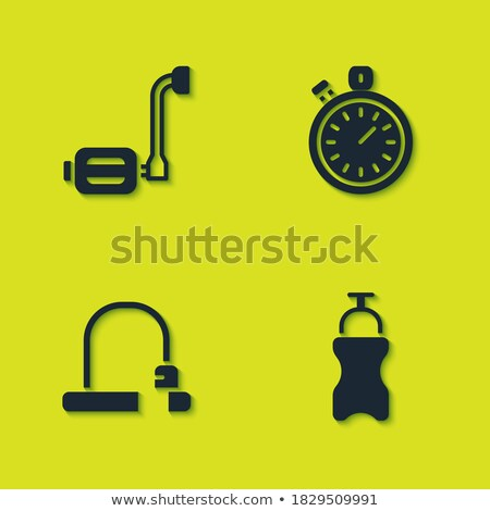 bicycle bottle and timer set vector illustration stock photo © robuart