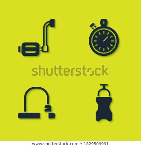 Bicikli üveg időzítő szett óra izolált Stock fotó © robuart