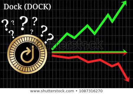 Dock Digital Currency. Vector DOCK Trading Sign. Stock photo © tashatuvango